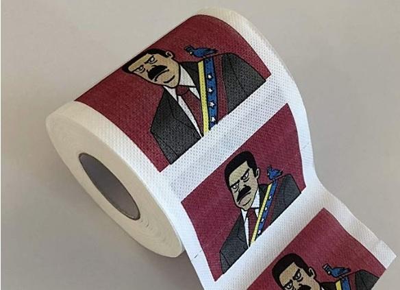 Crean papel toilet con cara de Nicolás Maduro, a la venta pro fondos crisis humanitaria en Venezuela