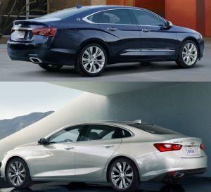 Chevrolet Malibú vs Impala 2018: dos tipo sedán con seguridad y estilo