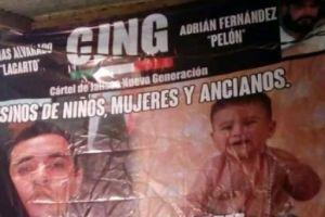 """Nueva narcomanta acusa a CJNG de """"El Mencho"""" por masacre en Minatitlán, Veracruz"""