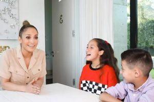 La divertida entrevista que le hicieron sus hijos a Jennifer López cautiva a sus fans