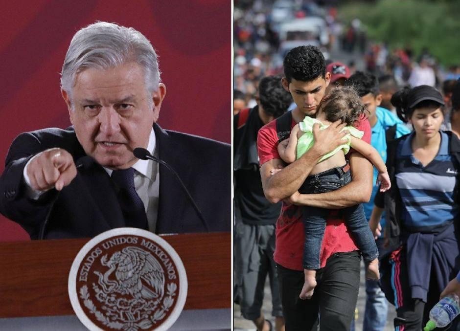 """La justificación de AMLO para bloquear """"libre paso"""" de inmigrantes por México"""