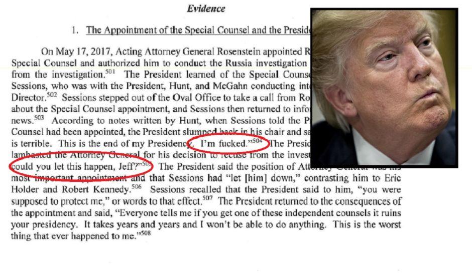 """Esto dijo Trump cuando supo que era investigado: """"¡Estoy jod***!"""""""