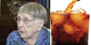 Mujer llega a los 104 años por haber bebido soda light