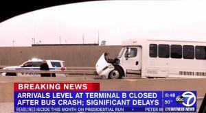 17 heridos por choque de bus en aeropuerto Newark; retrasos en los vuelos