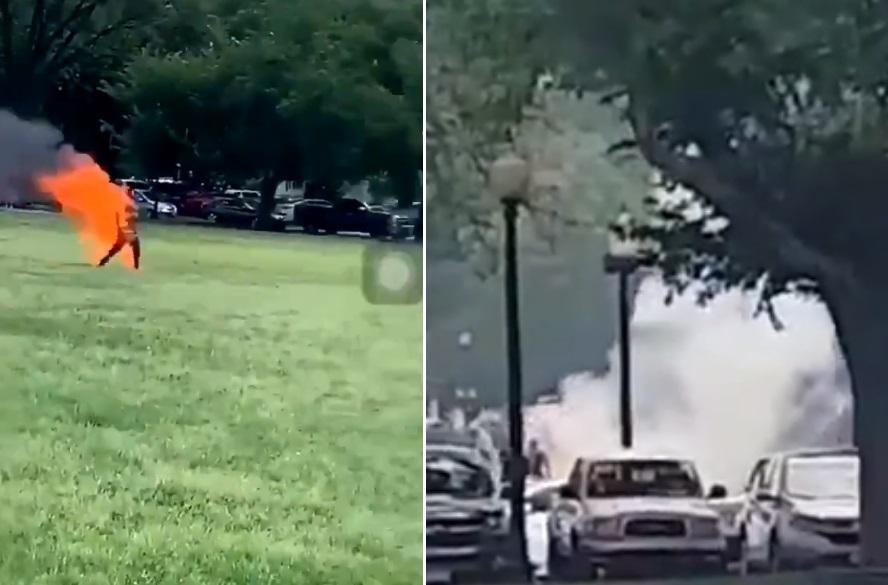 Sujeto se prende fuego cerca de la Casa Blanca