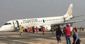 VIDEO: avión se quedó sin ruedas delanteras y aterrizó de emergencia