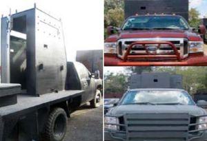 """El poder de las """"camionetas monstruo"""" que el Cártel del Noreste usa contra enemigos y policías"""