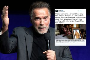 Schwarzenegger ayuda a abuelita de 102 años a punto de ser desalojada de su hogar y se vuelve viral