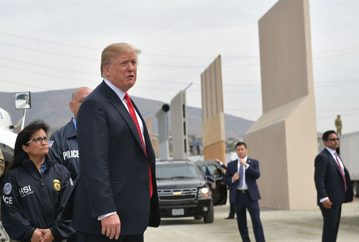 Trump quiere que el muro se construya en el menor tiempo posible.