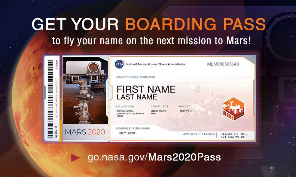 Si quieres poner tu nombre en Marte, NASA te da la oportunidad de hacerlo