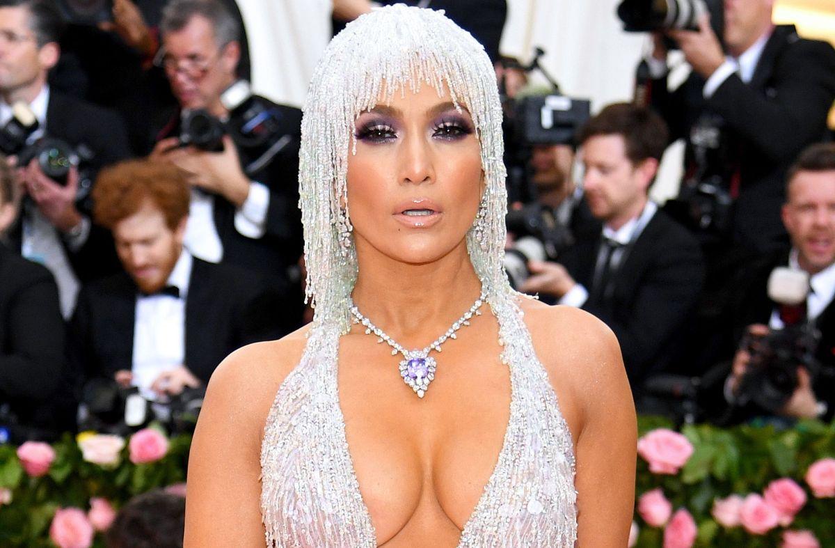 Jennifer López en la Met Gala 2019.