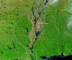 Satélite de NASA capta la crecida del río Mississippi desde el espacio