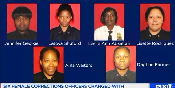 Acusan a 6 oficiales de prisión por tocar inapropiadamente a otras mujeres