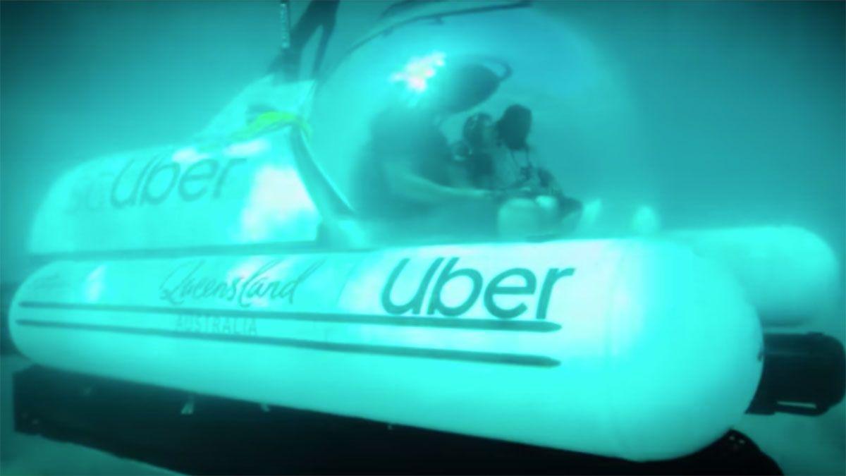 Uber lanza scUber en Australia, un servicio de viajes en submarino