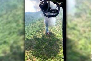 VIDEO: Se desploma helicóptero de la Marina mexicana; hay 5 soldados desaparecidos