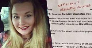 Maestra investigada por comentarios vulgares en el test de un alumno