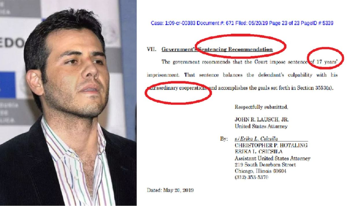 """Fiscales federales premian a Vicente Zambada, hijo del """"Mayo"""", tras testificar contra """"El Chapo"""""""