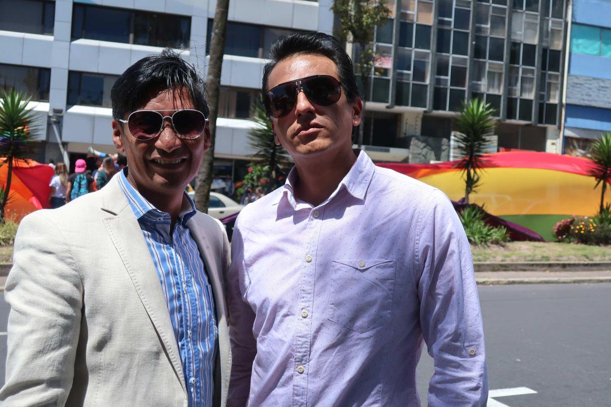 Efraín Soria, y Javier Benalcázar, una pareja que ha llevado una lucha desde 2017.