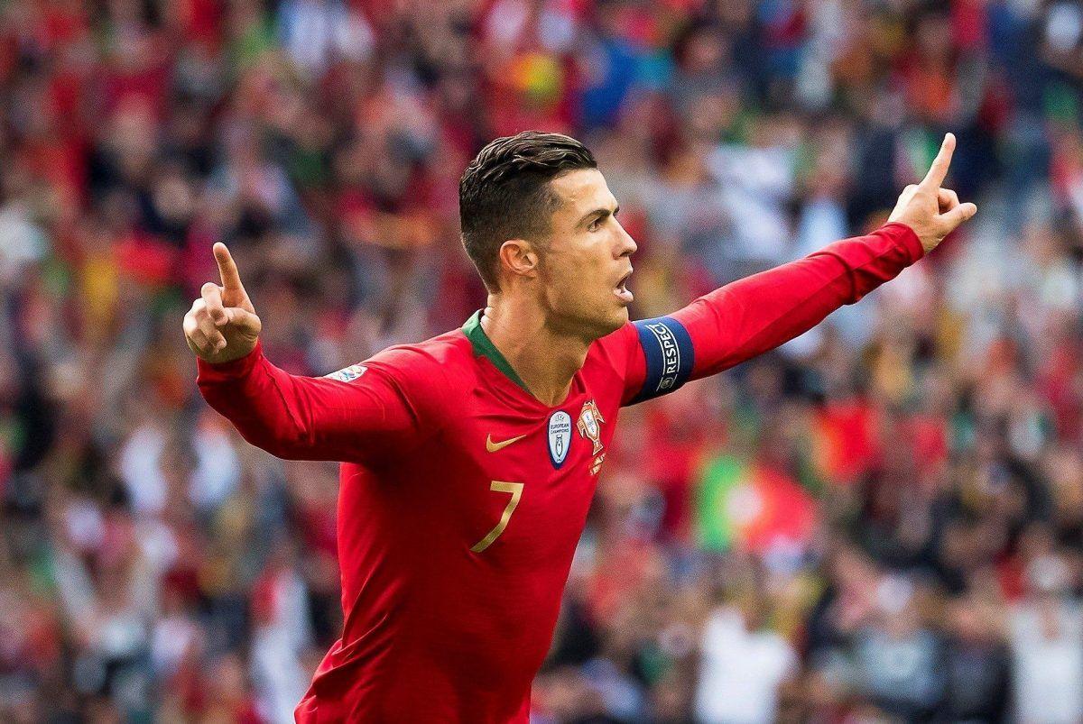 El portugués Cristiano Ronaldo celebra el pase a la final de la Liga de Naciones de la UEFA.