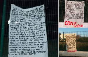 """Cártel del Noreste coloca narcomantas para advertir a traidores y """"limpieza"""" de su plaza"""