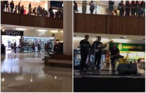 "Se inunda centro comercial y músicos tocan canción de ""Titanic"""