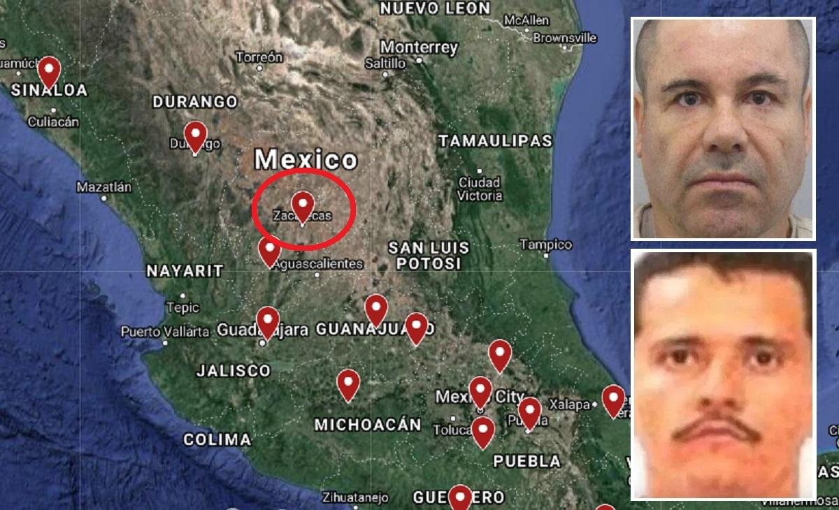 El Cártel de Sinaloa y el CJNG se estarían peleando territorios, como Zacatecas, según algunos reportes.