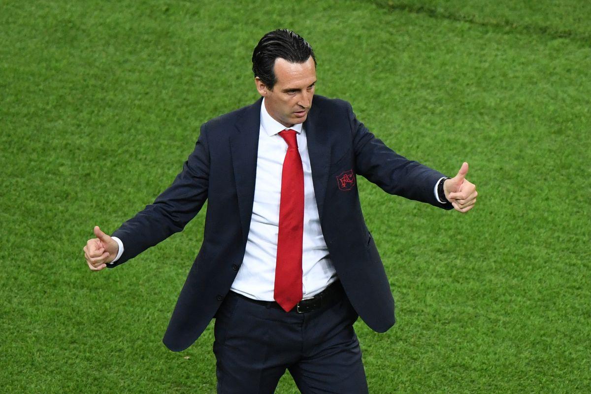 Unai Emery durante la final de la Europa League.