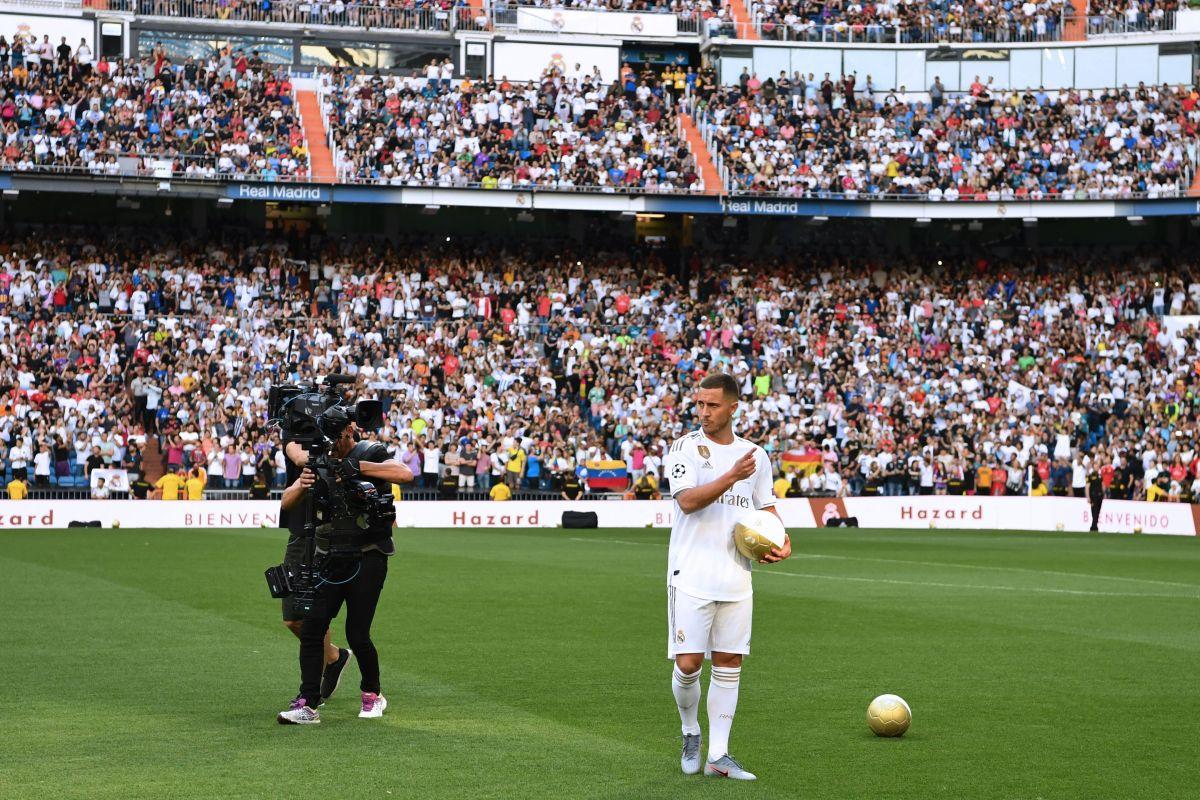 Eden Hazard en el Santiago Bernabeú.