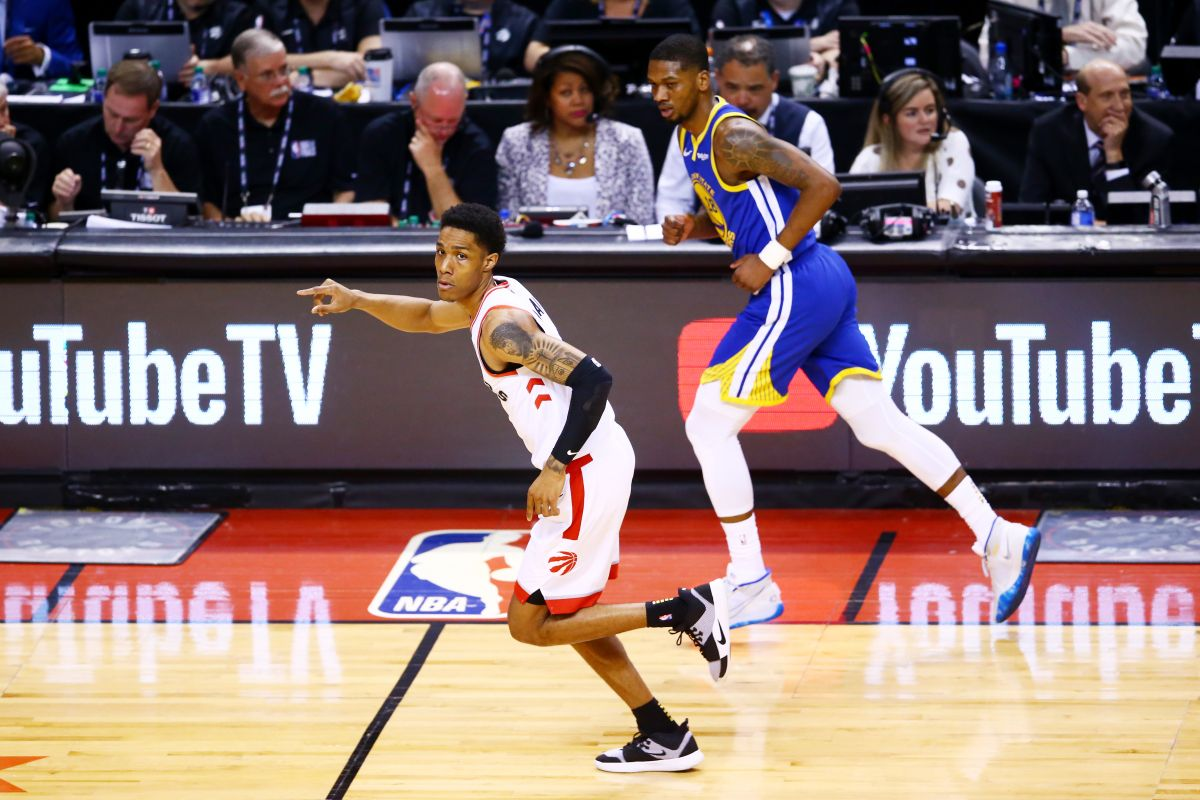 Patrick Mccaw en las Finales de la NBA.