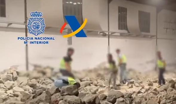 Narcos se las inventan, pero los pillan con 188,000 kilos de piedras llenas de cocaína en España