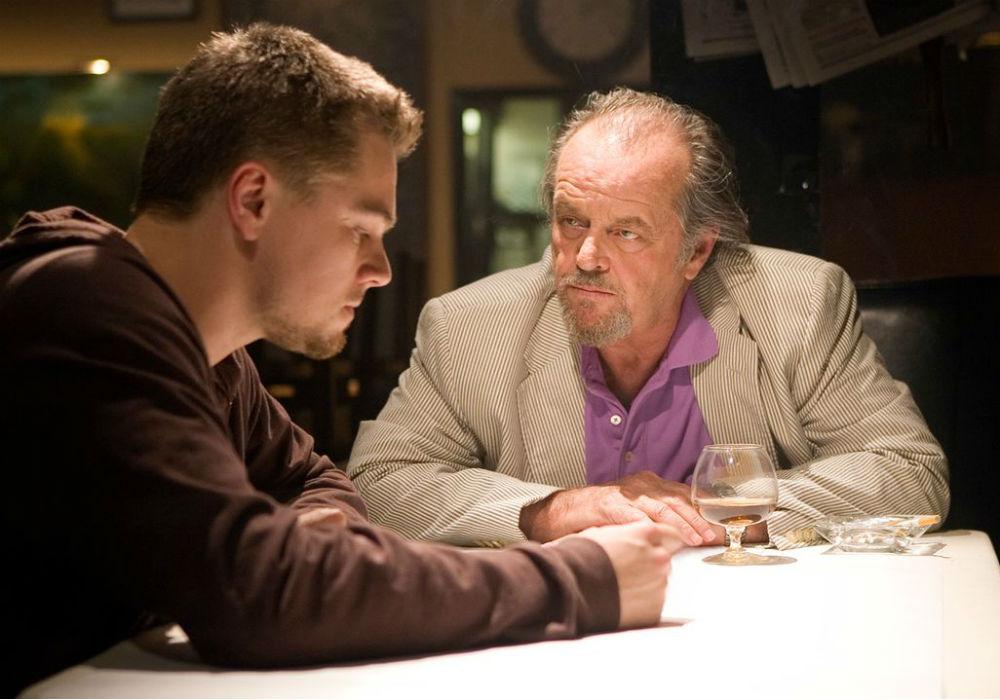 """Leonardo DiCaprio y Jack Nicholson en """"The departed"""""""