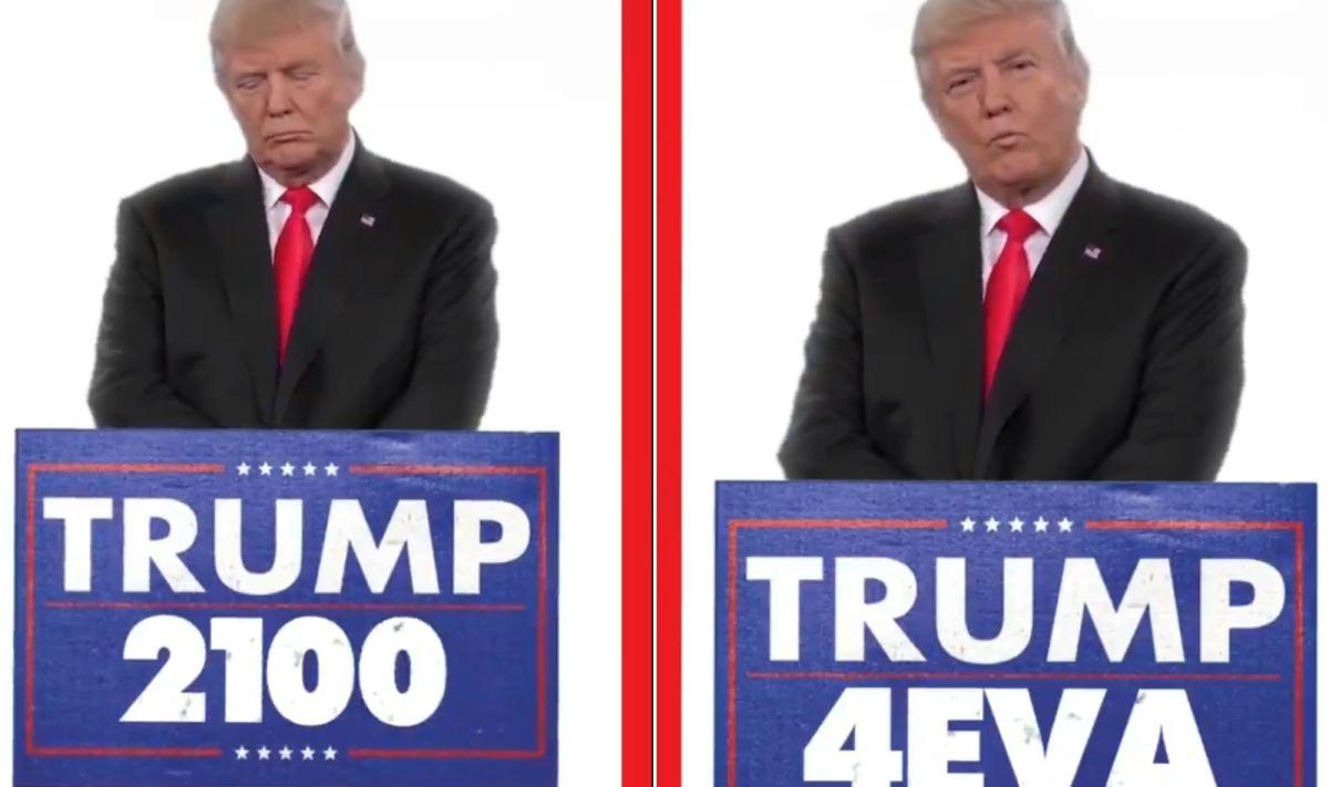 """Trump comparte video sobre ser presidente """"para siempre"""", se hace viral y desata burlas"""