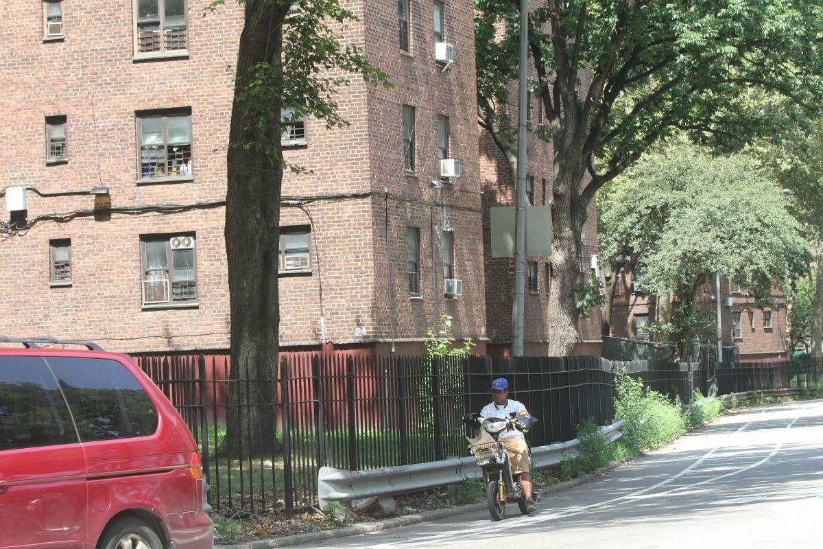 Complejo de vivienda pública en Nueva York.
