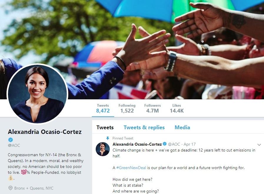 Compañero Demócrata demanda a Ocasio-Cortez por bloqueos en Twitter como Trump