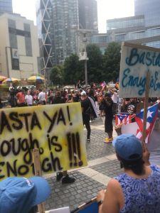 """El """"Basta ya"""" contra gobernador de Puerto Rico resuena en NYC"""