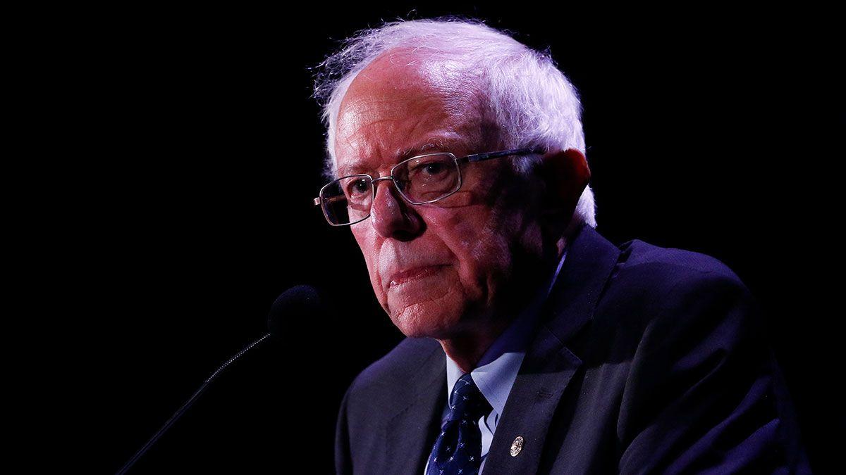 Bernie Sanders está luto a unos días de su ataque al corazón