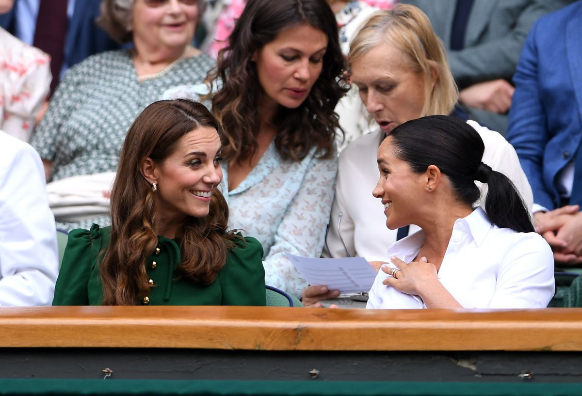 Derrocharon amor: Kate Middleton y Meghan Markle reinaron en Wimbledon