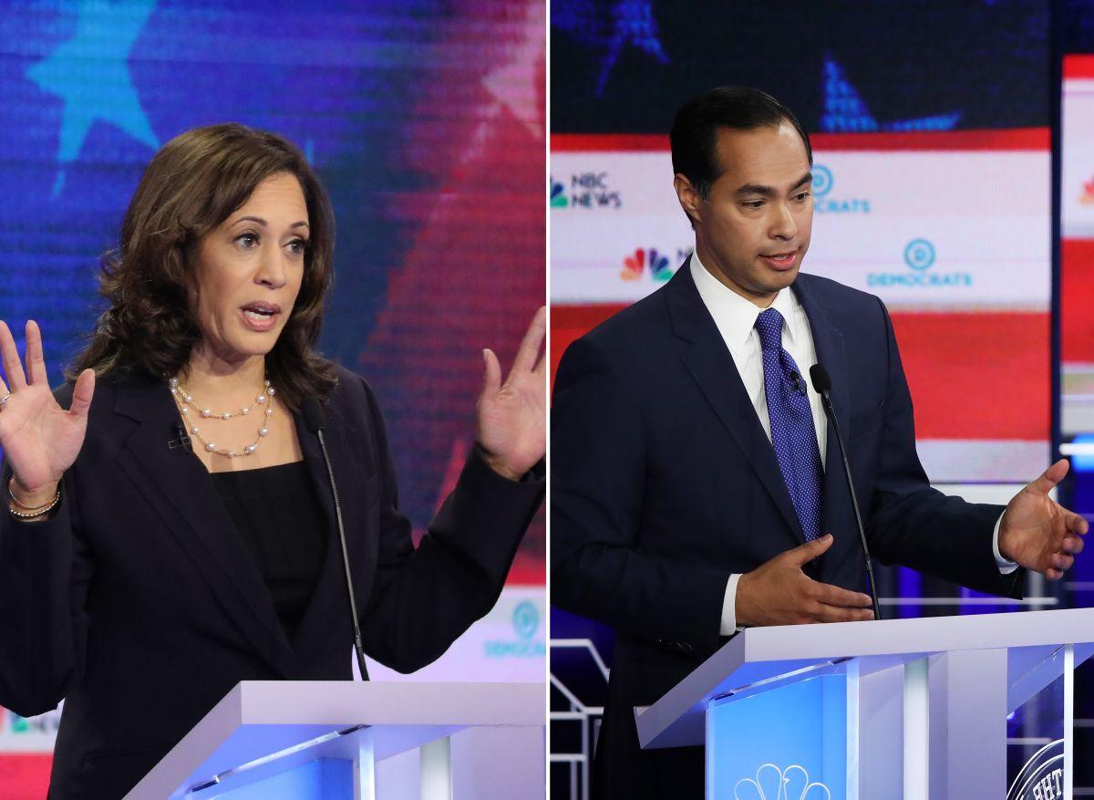 Kamala Harris avanza en preferencias tras debate demócrata; Julián Castro no logra despuntar
