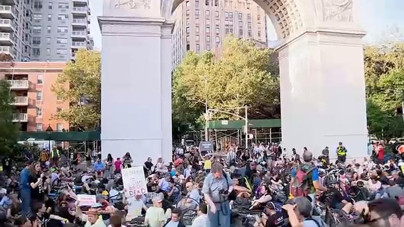 Ciclistas protestaron por alarmante cifra de muertes en Nueva York