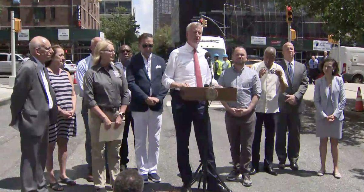 Alcalde bill de Blasio y autoridades de la ciudad