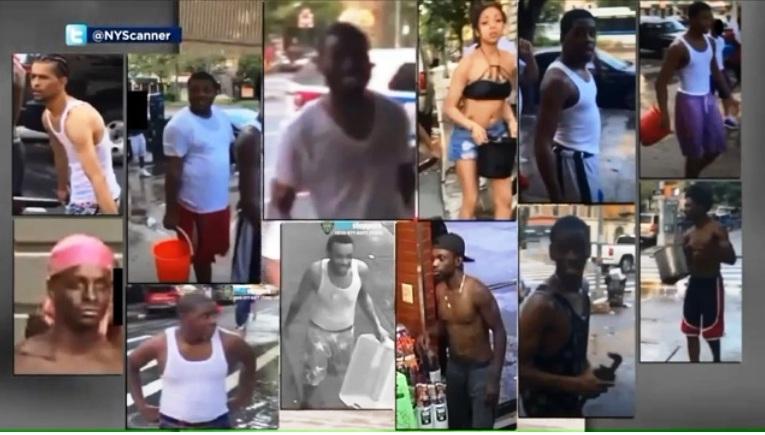 Hispano detenido por mojar a dos mujeres policías; publican fotos de más sospechosos