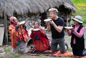 Gordon Ramsay sale de la cocina para explorar seis países en 'Uncharted'