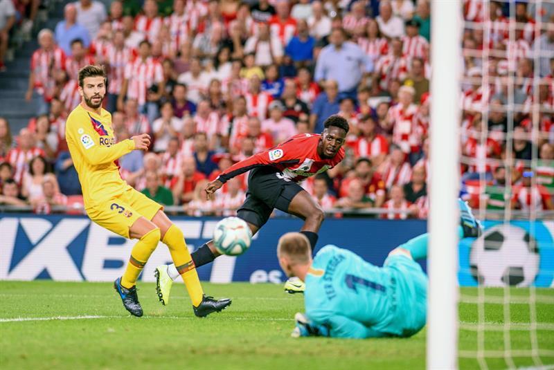 Con un gol de antología: El Athlétic de Bilbao le abolla la corona al Barça en el primero de La Liga