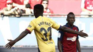 Anotó con 16 años: El Osasuna empató al Barcelona y empañó el debut de Ansu Fati