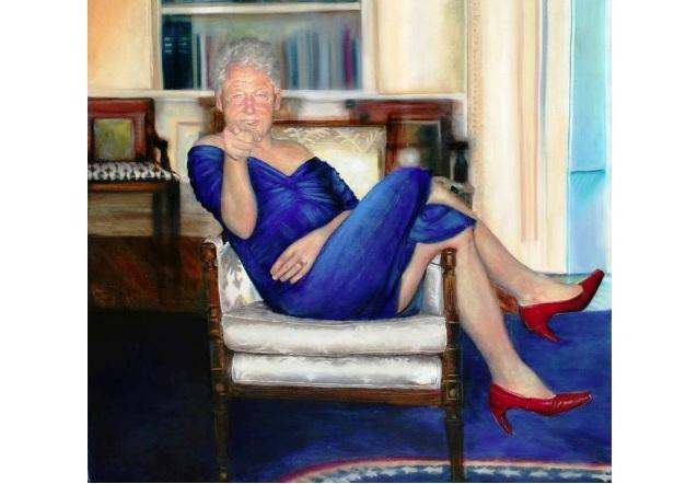 """Pintora de Bill Clinton vestido de mujer """"no sabía"""" que el cuadro estaba en casa del suicida Jeffrey Epstein"""