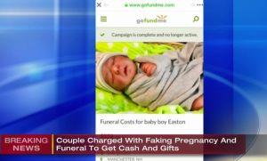 Acusan a pareja de fingir parto y muerte de un bebé para cobrar dinero en caridad