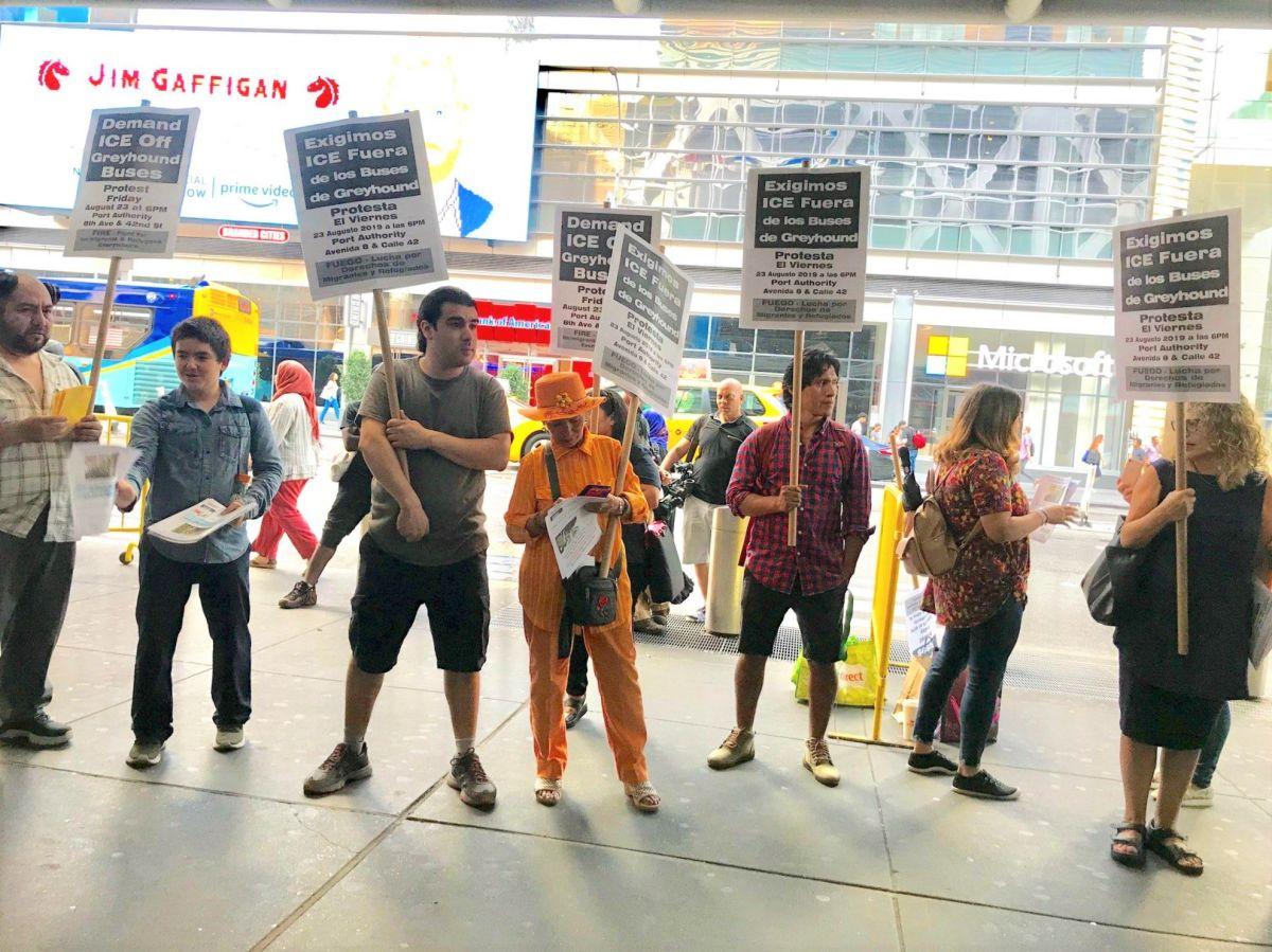 Coaliciones de Nueva York exigen a Greyhound que no permita redadas de 'La Migra' en autobuses
