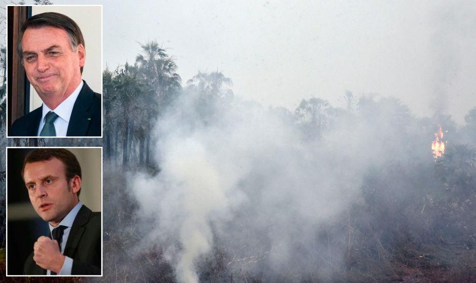 Bolsonaro rechaza ayuda de G7 para Amazonas; exige disculpa de Emmanuel Macron