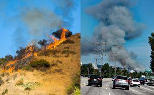 Incendio en Eagle Rock causa cierre de autopistas y evacuaciones en Glendale