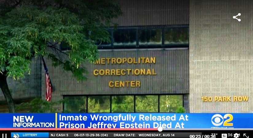 Regresa a prisión ladrón liberado por error durante escándalo de suicidio de Jeffrey Epstein